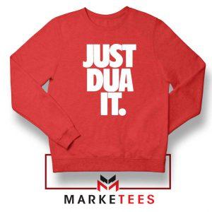 Just Dua It Nike Parody Red Sweatshirt