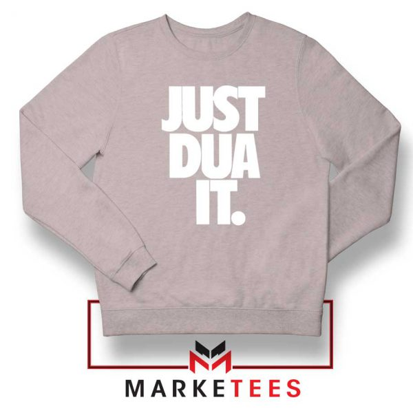 Just Dua It Nike Parody Sport Grey Sweatshirt