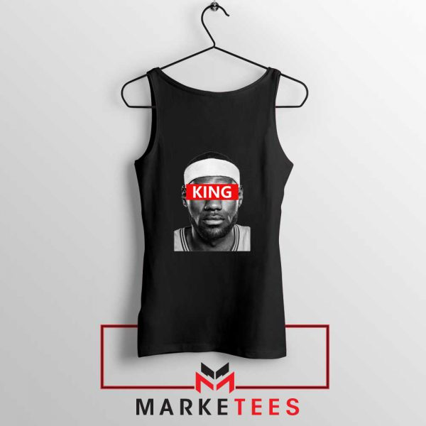 King LeBron James Black Tank Top