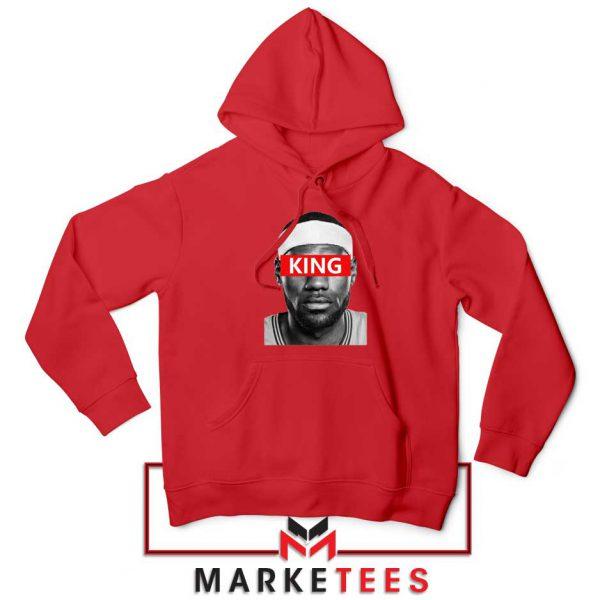 King LeBron James Red Hoodie