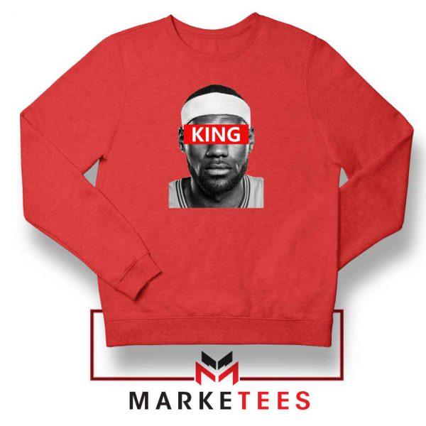 King LeBron James Red Sweatshirt