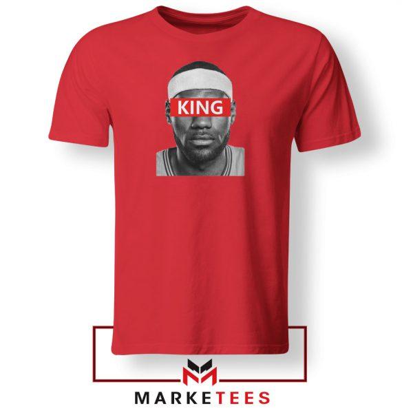King LeBron James Red Tshirt