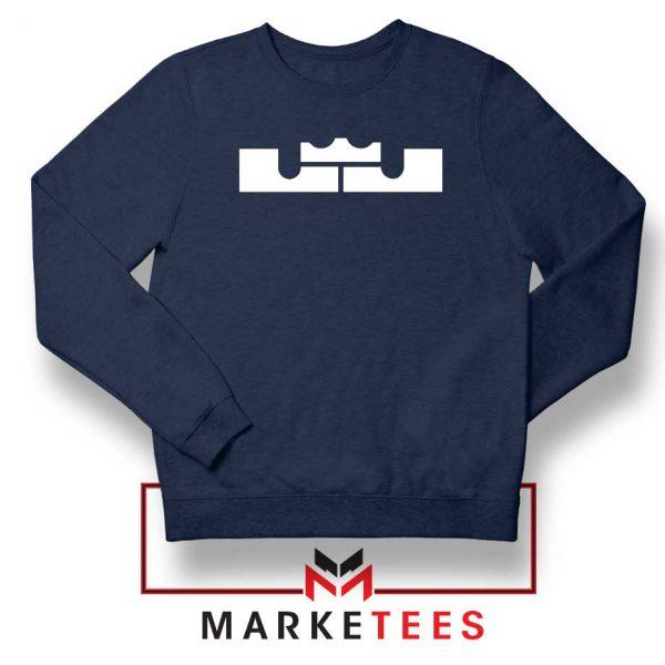 Lebron James Logo Navy Blue Sweatshirt