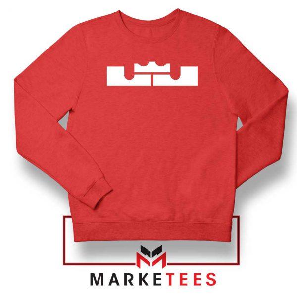 Lebron James Logo Red Sweatshirt