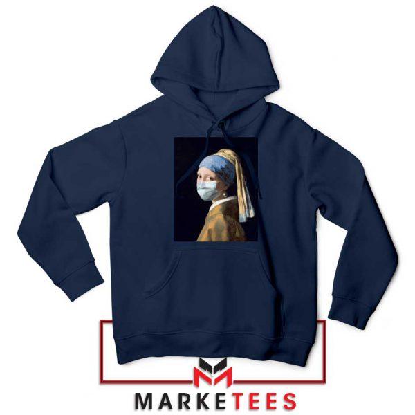 Mask Girl Coronavirus Navy Blue Hoodie