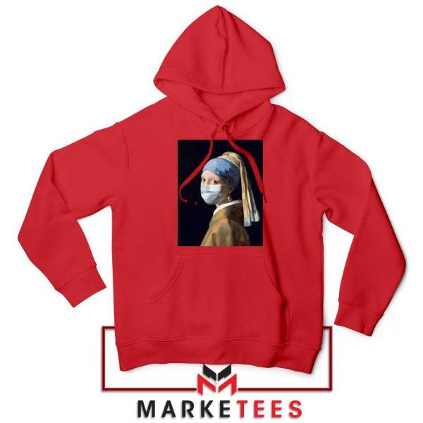 Mask Girl Coronavirus Red Hoodie