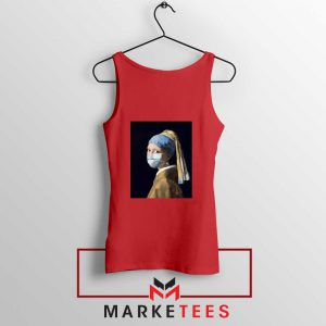 Mask Girl Coronavirus Red Tank Top