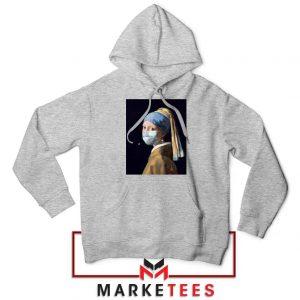 Mask Girl Coronavirus Sport Grey Hoodie