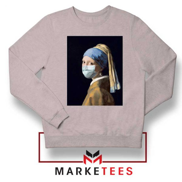 Mask Girl Coronavirus Sport Grey Sweatshirt