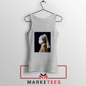 Mask Girl Coronavirus Sport Grey Tank Top
