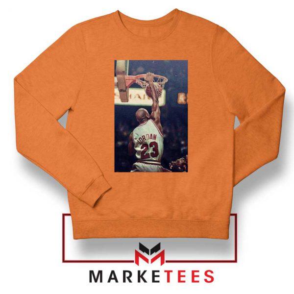 Michael Jordan Slam Dunks Orange Sweatshirt
