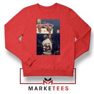 Michael Jordan Slam Dunks Red Sweatshirt