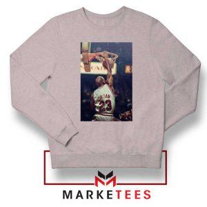 Michael Jordan Slam Dunks Sport Grey Sweatshirt