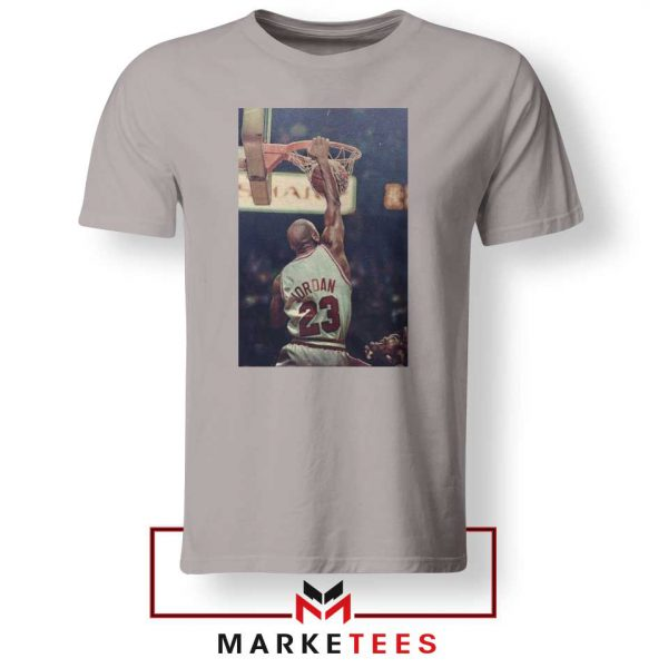 Michael Jordan Slam Dunks Sport Grey Tshirt