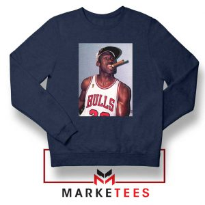 Michael Jordan Smoke Navy Blue Sweatshirt