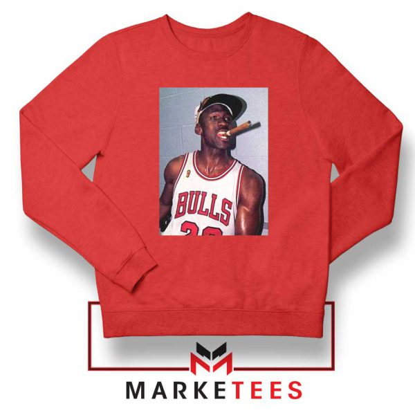 Michael Jordan Smoke Red Sweatshirt
