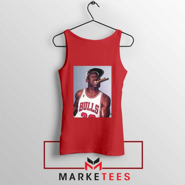 Michael Jordan Smoke Red Tank Top