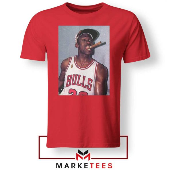 Michael Jordan Smoke Red Tshirt