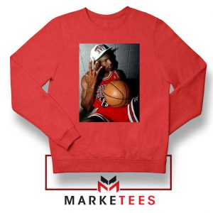 Michael Jordan Three Peat Red Sweatshirt