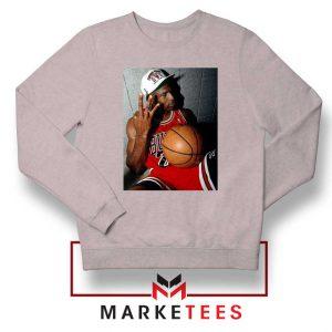 Michael Jordan Three Peat Sport Grey Sweatshirt