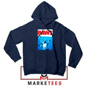 Paws Cat and Mouse Navy Blue Hoodie
