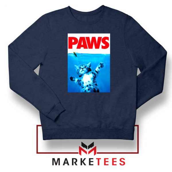 Paws Cat and Mouse Navy Blue Sweatshirt