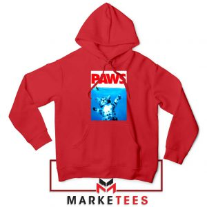 Paws Cat and Mouse Red Hoodie