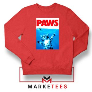 Paws Cat and Mouse Red Sweatshirt