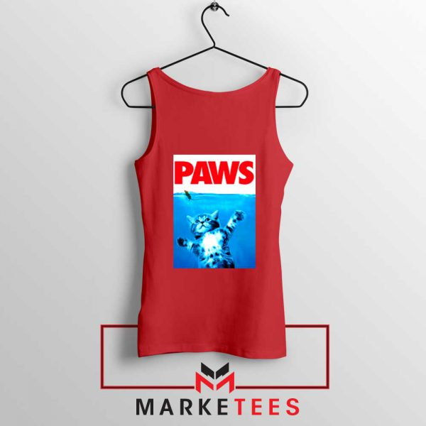 Paws Cat and Mouse Red Tank Top