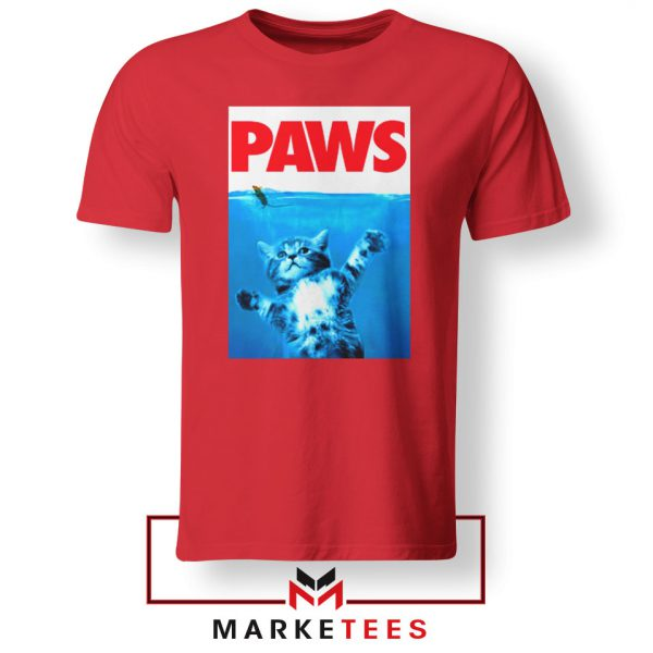 Paws Cat and Mouse Red Tshirt