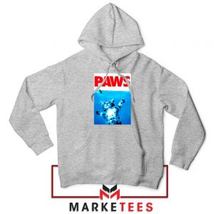 Paws Cat and Mouse Sport Grey Hoodie