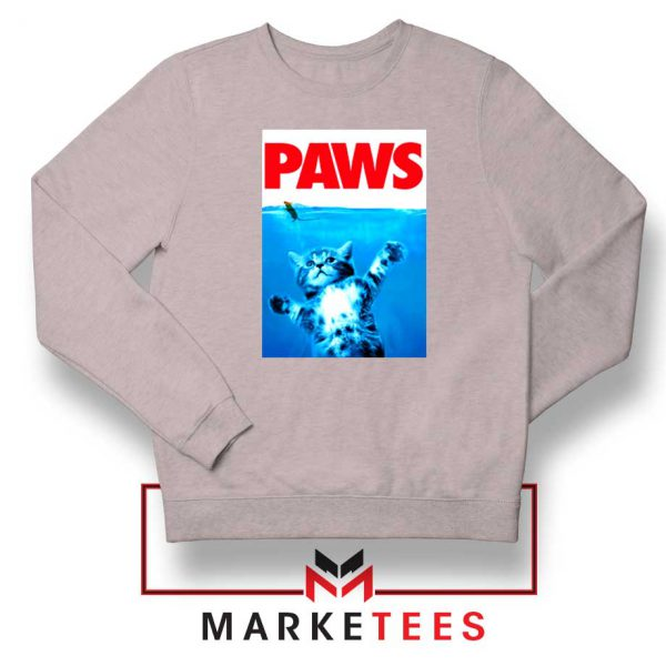 Paws Cat and Mouse Sport Grey Sweatshirt