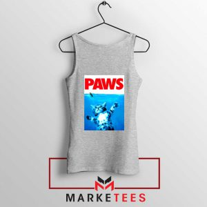Paws Cat and Mouse Sport Grey Tank Top