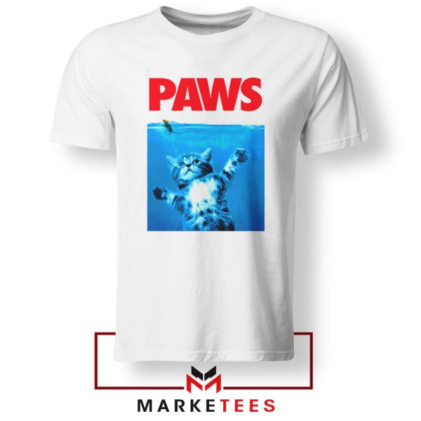 Paws Cat and Mouse White Tshirt