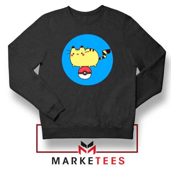 Pikachu Cat Black Sweatshirt