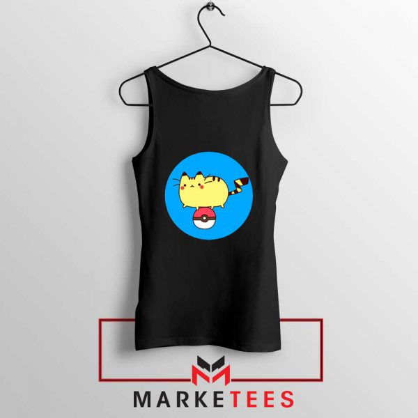 Pikachu Cat Black Tank Top