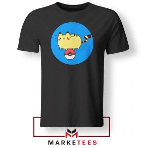 Pikachu Cat Black Tshirt