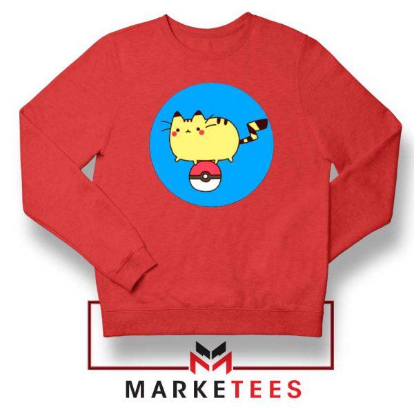 Pikachu Cat Red Sweatshirt