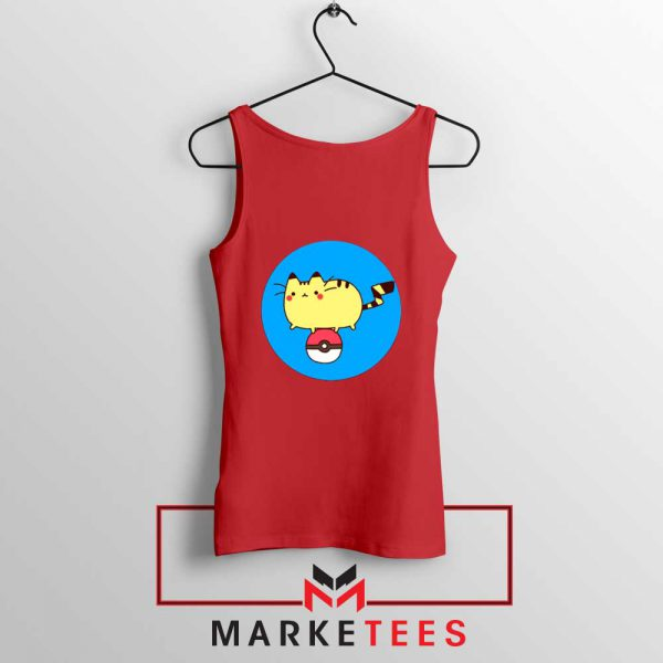 Pikachu Cat Red Tank Top