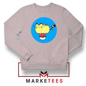 Pikachu Cat Sport Grey Sweatshirt