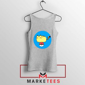 Pikachu Cat Sport Grey Tank Top