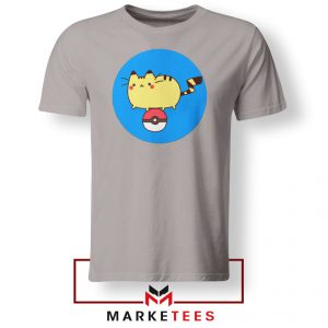 Pikachu Cat Sport Grey Tshirt