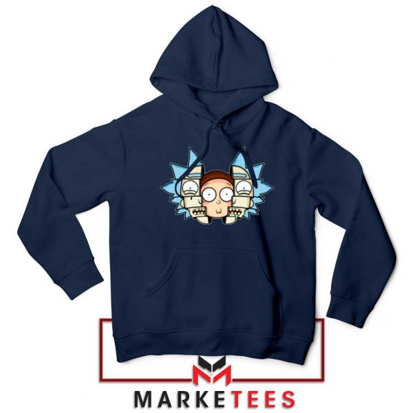 Rick And Morty Comedy Navy Blue Hoodie