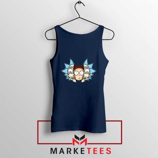Rick And Morty Comedy Navy Blue Tank Top