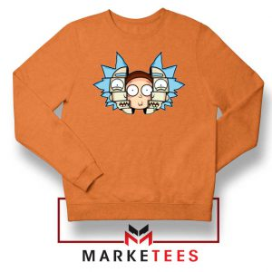 Rick And Morty Comedy Orange Sweatshirt