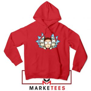 Rick And Morty Comedy Red Hoodie