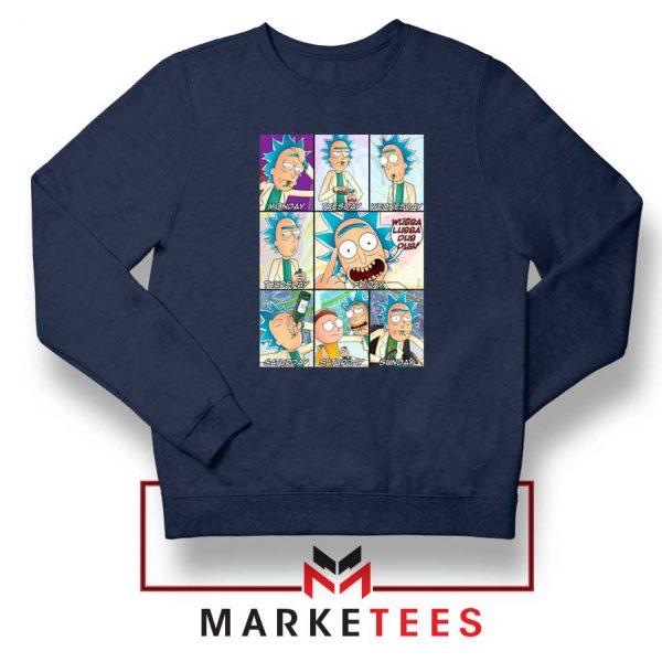 Rick Drunk Navy Blue Sweatshirt