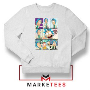 Rick Drunk White Sweatshirt