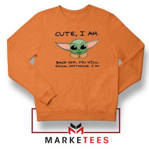 Social Distancing Child Alien Orange Sweatshirt