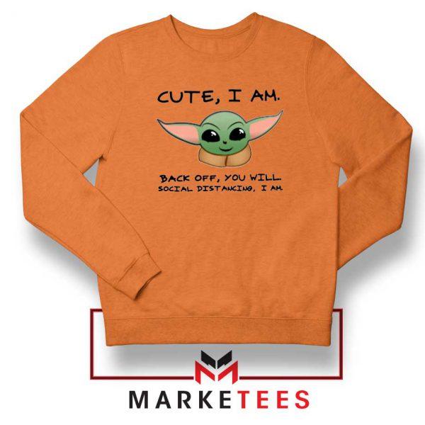 Social Distancing Child Alien Orange Sweatshirt